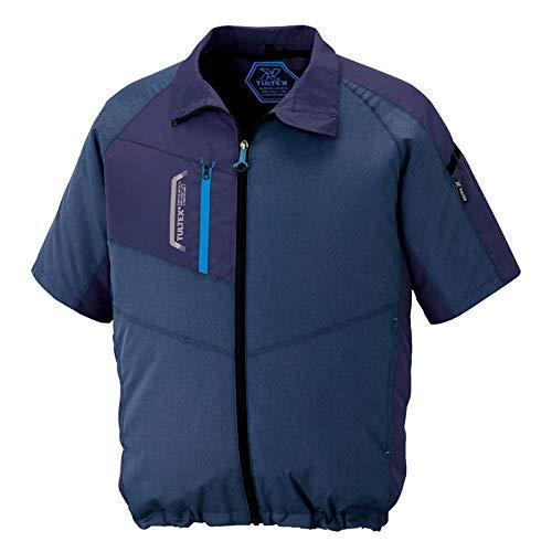アイトス AITOZ 半袖ジャケット(空調服TM)(男女兼用) AZ50198 108 杢ネイビー 5L