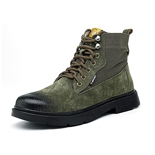 Zapatos de Trabajo Zapatos de Gamuza/Lona de Lona de Lona para soldadores, Tapa de Puntera de Acero Anti-aplastamiento y Zapatos de Trabajo de la Media de la Media punción, Botas de Trabajo para muj
