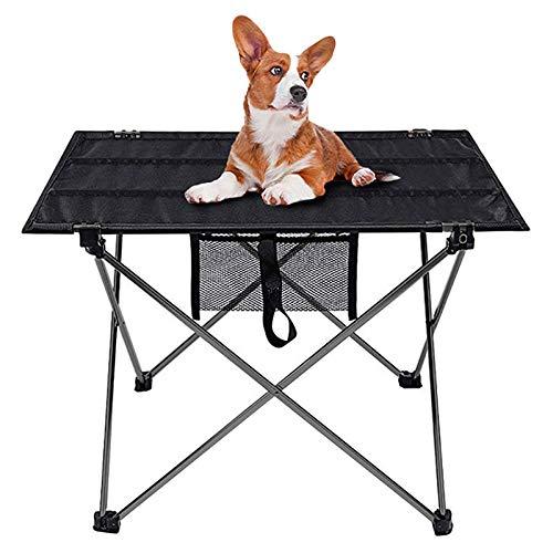 PYLTTK Mesa plegable portátil para camping, muebles de jardín, ordenador, mesa de cama, picnic, de aleación de aluminio, plegable ultraligera