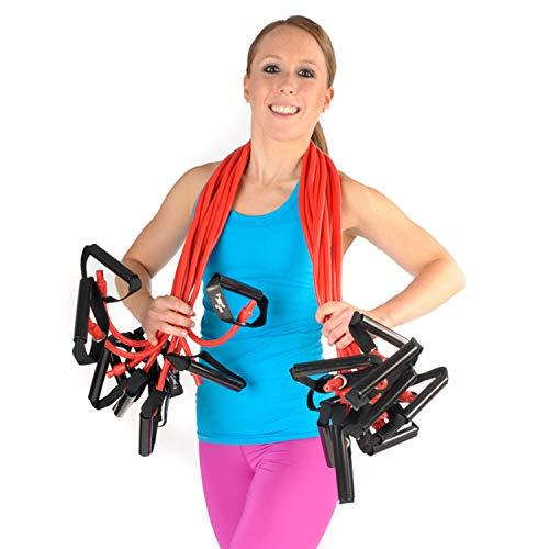 DITTMANN 10er Paket Body-Tube Widerstand Training Functional Fitness Reha rot