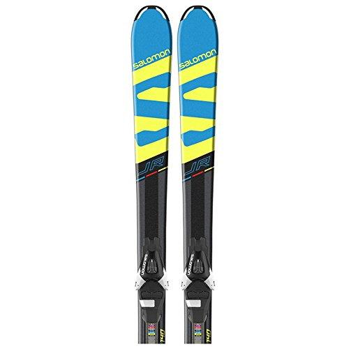 Salomon Kinder Skier X-Race JR M inkl. Bindung EL 7 B80 schwarz/blau (706) 140