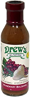 Drew's All-Natural Salad Dressing and 10 Minute Marinade, Rosemary Balsamic, 12-Ounce Bottle by Drew's All Natural
