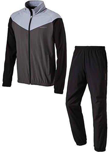 energetics Herren Präsentationsanzug Trainingsanzug FINLEY + FLO schwarz / grau, Größe:XXL