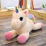 HELEVIA Cartone Animato per Bambini Peluche Arcobaleno Unicorno Bambola Giocattolo di Peluche Ragazza Ragazzo Regali di Compleanno, 40cm / 60cm rPlush Peluche Animale Regalo per Bambini