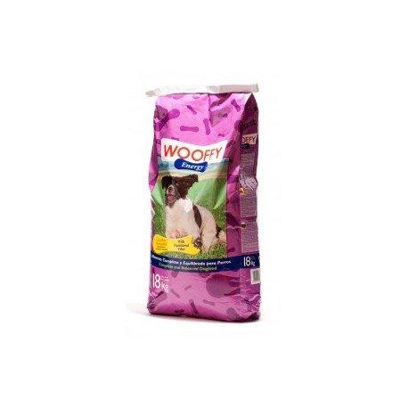 Pienso para perro Wooffy Energy saco de 18 kg. Pienso para tu perro sometido a régimen de intenso ejercicio físico o nivel elevado de estrés