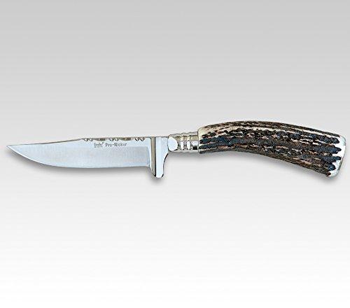 Linder Trachtenmesser Klingenlänge 7.8 cm, Zierrücken Hirschh.Platte 8cm, 18.2 cm