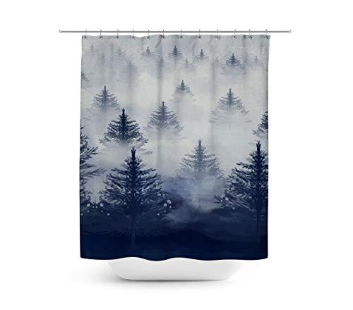 Queen of Cases Misty Forest - Duschvorhang in 4 Größen