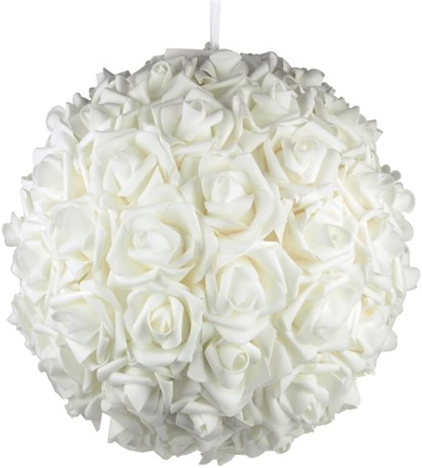 Homeford Firefly Imports Soft Touch Foam Kissing Ball Wedding Centerpiece, 14-Inch, White,