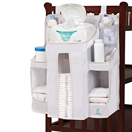 Product Image of the hiccapop Nursery Organizer and Baby Diaper Caddy | Hanging Diaper Organization...