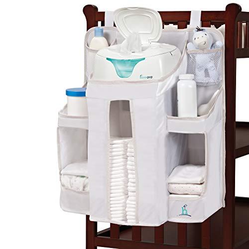 hiccapop Kinderzimmer-Organizer und Baby-Windelablage, zum Aufhängen, Organisieren von Windeln für Baby-Utensilien, zum Aufhängen an Kinderbett, Wickeltisch oder Wand