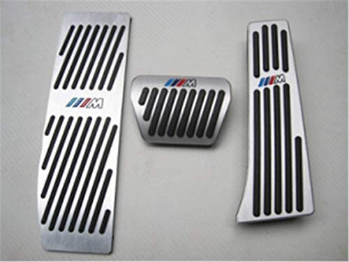 Rilievi del Pedale di Auto No Drill Pedale del Freno Accessori Fit for X5 X6 (AT) (Colore : AT BMW E46 E90 E91 E92 E93 E87 E88 F30)