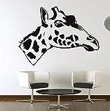 Etiqueta de la pared PVC Real extraíble autoadhesivo flor jirafa perfil lateral...