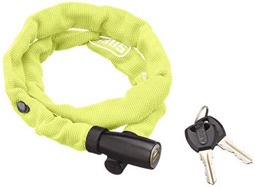 ABUS Kettenschloss 1500 Web Lime – Fahrradschloss aus Spezialstahl – ABUS-Sicherheitslevel 3 – 60 cm – Gelb/Grün
