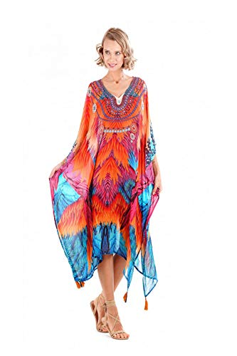 Lascana Otto (GmbH & Co KG) IC20-148 - Fuego Poncho RED RED