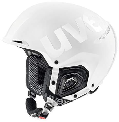 uvex Unisex– Erwachsene, JAKK+ octo+ Skihelm, white mat-shiny, 55-59 cm