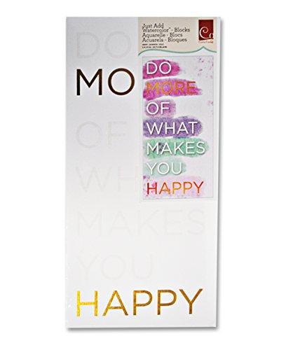 Cosmo Cricket Block Watercolor Happy