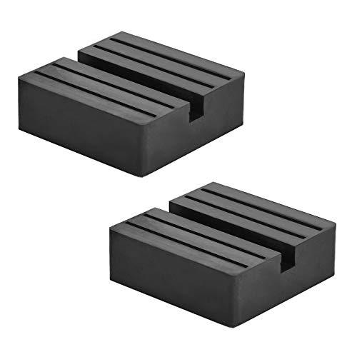 DEDC Square Universal Jack Pad Slotted Car Lift Rubber Pad Guard Adapter Frame Rail Protector Pinch Weld Protector (confezione da 2)