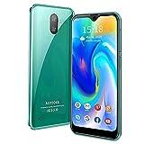 Teléfono Móvil,Quad-Core 32GB,Android 9.0 Teléfono Libre Dual SIM, 8 MP + 5 MP,Smartphones Baratos de 5.5 Pulgadas,Reconocimiento Facial,3400mAh Batería,GPS/WiFi-Negro