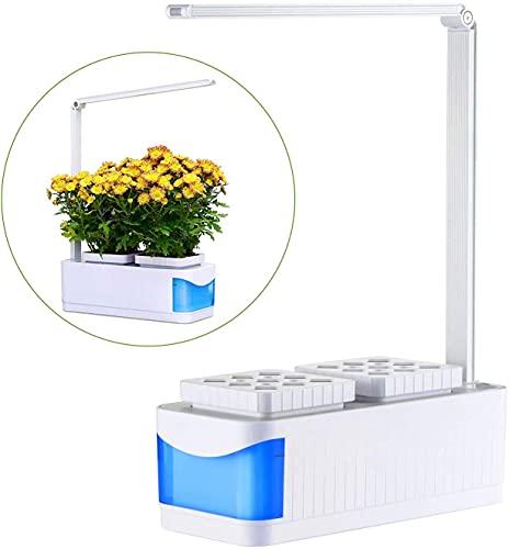 TTLIFE Kit de Cultivo Interior Smart Garden,Sistema Hidropónico interior, y Lámpara de Mesa de iluminación dos Modos,Kit con Luz LED de Cultivo Para Hierbas,Flores y Verduras