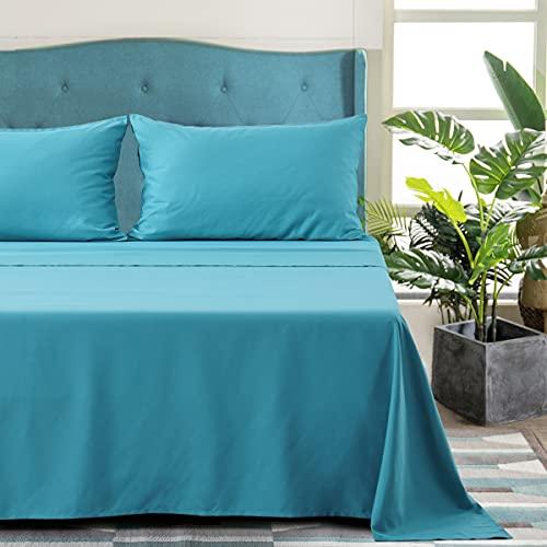 Aisbo - Juego de sábanas con Funda de Almohada, Cama Individual, 50 x 80 cm, Azul eléctrico