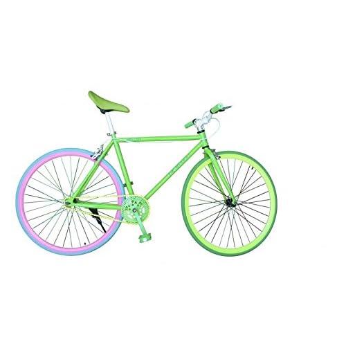Wizard Industry Helliot Soho 5306 - Bicicleta Fixie, Cuadro de Acero, Frenos V-