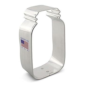 Ann Clark Small Mason Jar Cookie Cutter - 3.5 Inches - Tin Plated Steel
