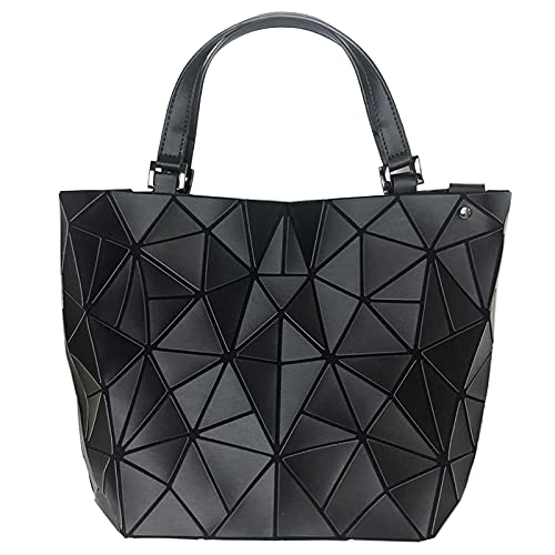 QIANJINGCQ personalidad de moda costura de diamantes láser súper práctica bolsa de mensajero de gran capacidad luminosa bolso de mano mochila