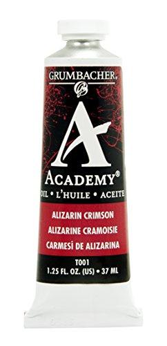 Grumbacher Academy Oil Paint, 37 ml/1.25 oz, Alizarin Crimson