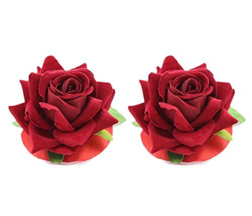 1 par de Fundas para pezones de Rosas, pétalos, Empanadas, Pegatinas para Sujetador para Mujeres