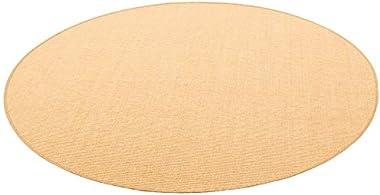 Snapstyle Tapis Astra en sisal tissé en Fibres Naturelles Rond - Couleur Miel Beige - 4 Tailles Disponibles