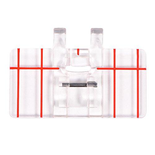 Prensatelas de Puntada, Paralela Pata de Prensatelas Paralelo el Pie Prensatelas Plástico Claro Transparente para la Máquina Coser
