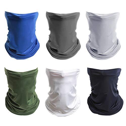 shoplease 6 Piezas Bandana Multifuncional, Pañuelo Cabeza Elástica, Magic Headwear Anti-UV para Pesca, Yoga, Motocicleta