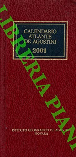 Calendario Atlante De Agostini. 2001, Anno 97°.