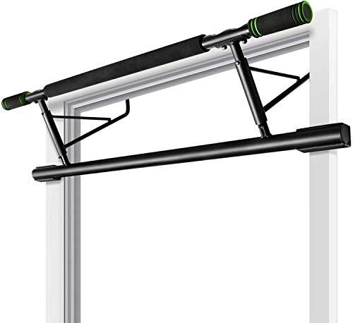 Elifano Klimmzugstange Klimmzugstange Premium Tür Reckstange für Türrahmen Ohne Schrauben - Fitnessstange für Zuhause - 20cm höher im Tür Rahmen für mehr Bewegungsamplitude/Range of Motion