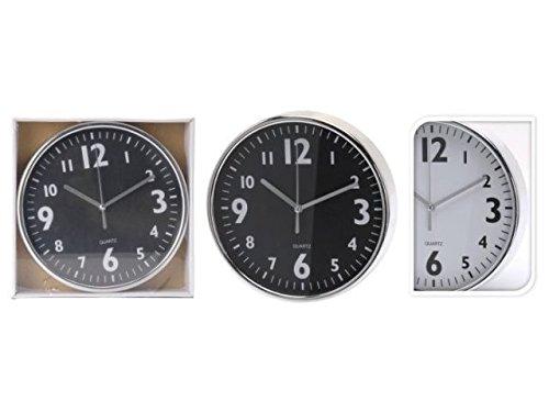 BUYLLOON HOME 241Y26 Horloge Murale chromée Cadran Assorti 20 Cm