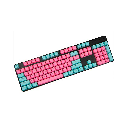 Six6 tweekleurige PBT achtergrondverlichting mechanische toetsenbord toetsen, ANSI lay-out Computer Gaming toetsenbord sleutelkap Keyset voor Cherry MX Mechanisch toetsenbord