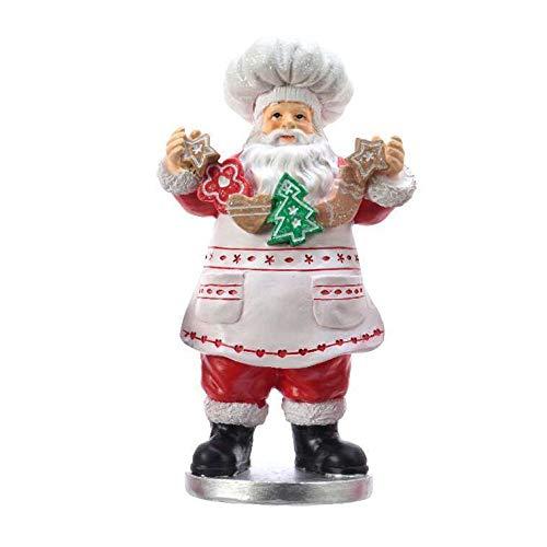 PRGN STATUINA Babbo Natale PASTICCERE 9,5X11X20,5 CM Accessori Decoro Natale