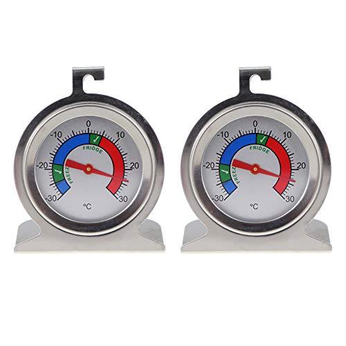Thermomètre World Réfrigérateur Congélateur Thermomètre Paquet double Température du réfrigérateur - 1 thermomètre réfrigérateur et 1 thermomètre congélateur
