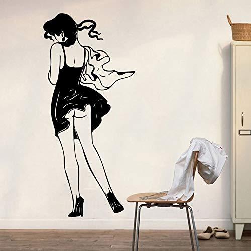 yaonuli Muursticker voor meisjes, voor fitness, slaapkamer, schoonheid, dames, jurk, shop, muurtattoo, vinyl, decoratie van het huis
