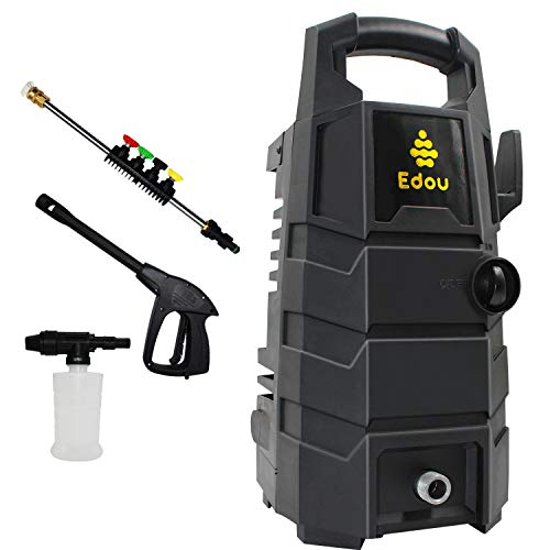EDOU 2200 Max PSI 1.6 GPM Electric Pressure Washer Cleaner Machine,Including 35ft Power Cord,19.6ft Hose,Detergent Bottle,Spray Gun and 5 Nozzles.