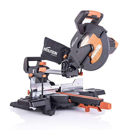 "Evolution Power Tools R255SMS+ 10"" Multi-Material Compound Sliding Miter Saw Plus"