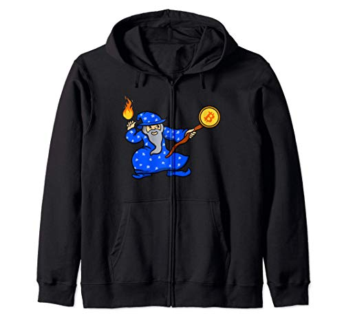 El Anime del Mago Azul de Bitcoin Sudadera con Capucha