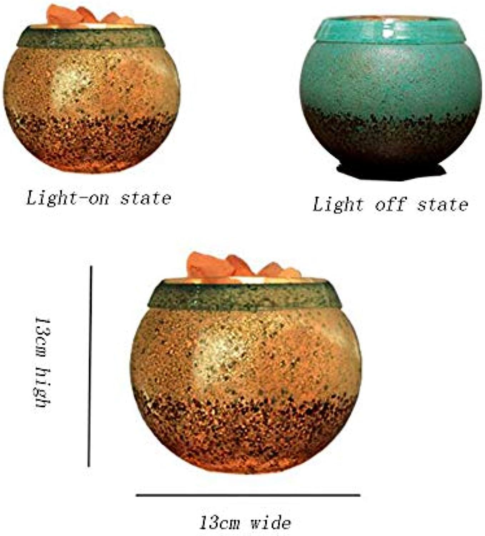 Kreative Tischlampe, Himalaya-Salzlampe, Warmes Schlafzimmer, Hochzeits-Schlafsid Nachtlicht,