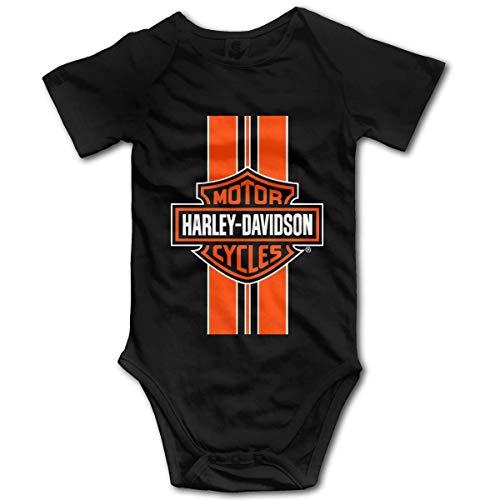 Body de bebé Harley Davidson Logo mameluco infantil escalada ropa divertido mono trajes, 12 meses Negro Negro ( 18 Meses