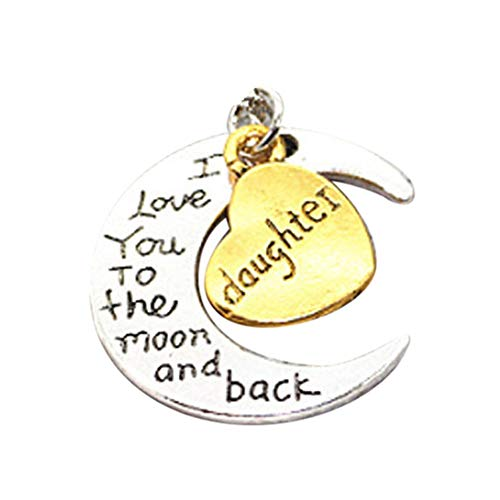Find Cheap Muranba I Love You To The Moon And Back' Engraved Silver Moon Pendant Necklace Mum