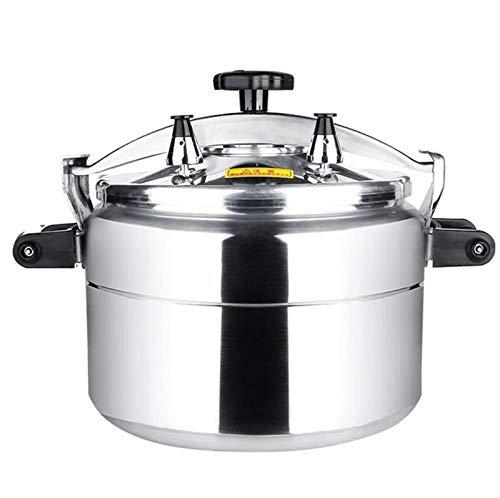 Cuisinière 15L-36Lressure, cuisinière à induction à gaz de grande capacité, restaurant à usage général, hotel cantine, cuisinière à pression commerciale anti-explosion (Color : Silver, Size : 36L)