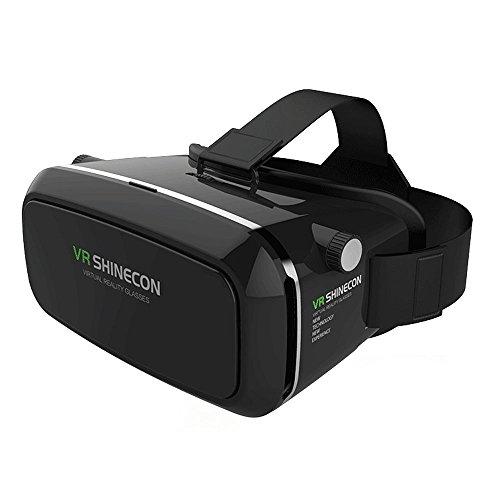 Casque de Réalité Virtuelle, Lunettes 3D VR, Boîtier de Rangement VR, Casque VR pour 3D Films et Jeux Vidéo, Compatible avec Android iOS et Autres Smartphones de 3,5'- 6,0'
