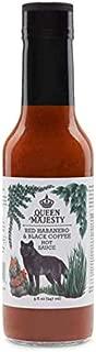 Queen Majesty Hot Sauce, Sauce Hot Red Habanero Black Coffee, 5 Fl Oz