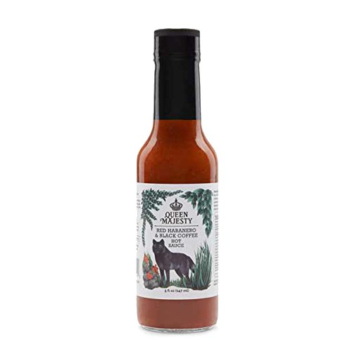 Queen Majesty Red Habanero and Black Coffee Hot Sauce, 147ml