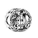 Annmors Abalorios Charms Colgantes de Calabaza de medianoche Cuentas Plata de Ley 925 con Circonita cúbica Transparente Compatible con Pulsera Pandora & Europeo, Charms para Mujer Niña